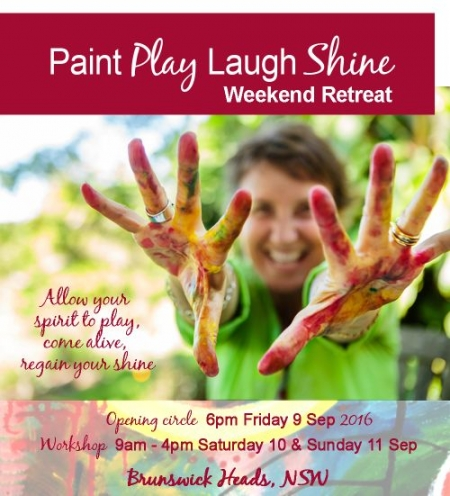 Paint Play Laugh Shine Weekend Retreat September 2016